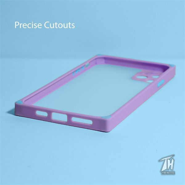 Purple Square Smoke Silicone Protection case for Apple iphone 11 pro