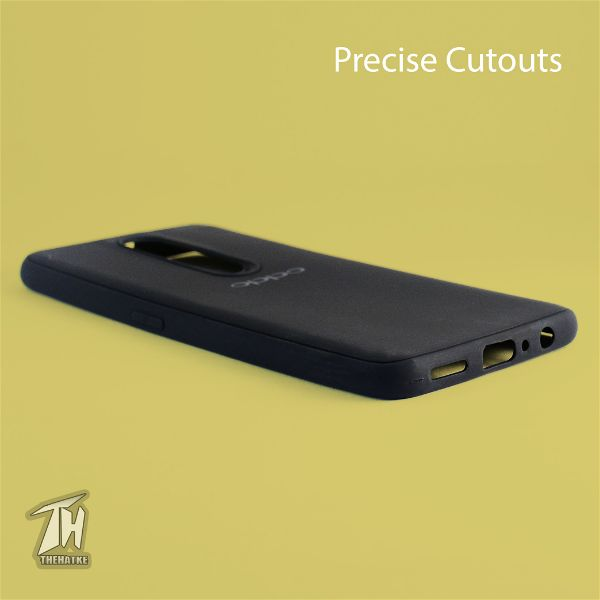 Black Silicone Case for Oppo F11 pro