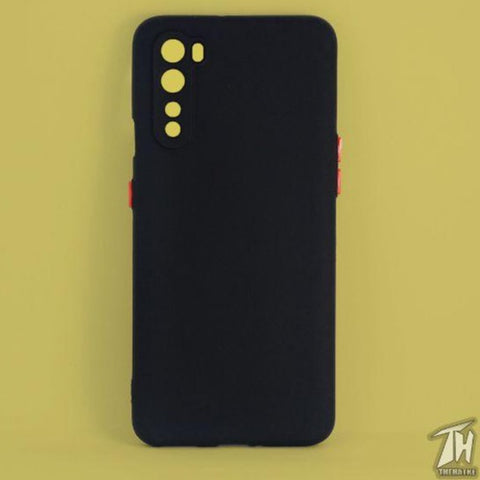 Black Smooth Silicone Case for Oneplus Nord