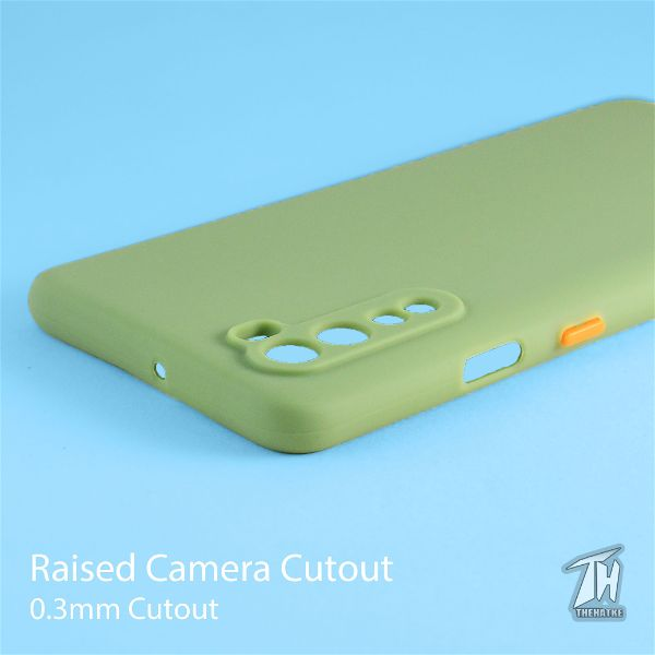 Light Green Smooth Silicone Case for Oneplus Nord
