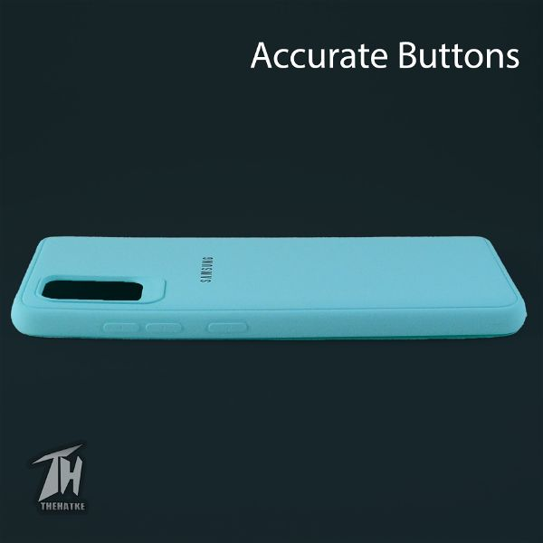 Light Blue Silicone Case for Samsung A31