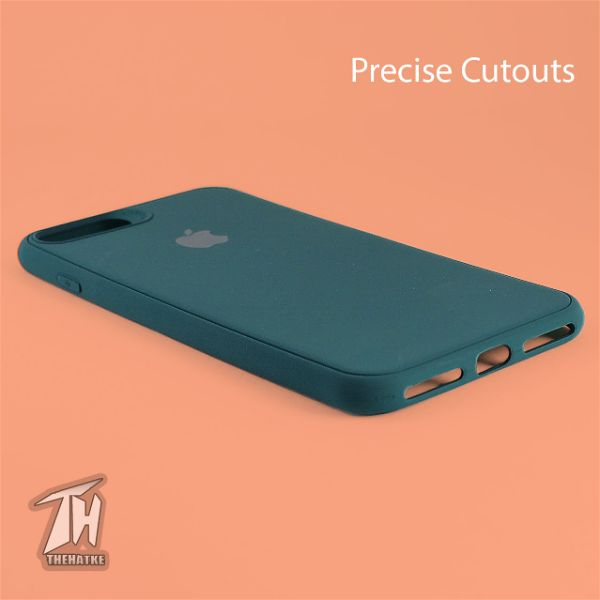 Dark Green Silicone case for Apple iphone 8 plus