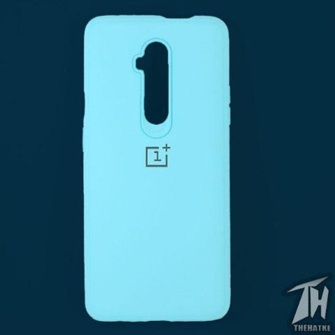 Light Blue Silicone Case for Oneplus 7t pro
