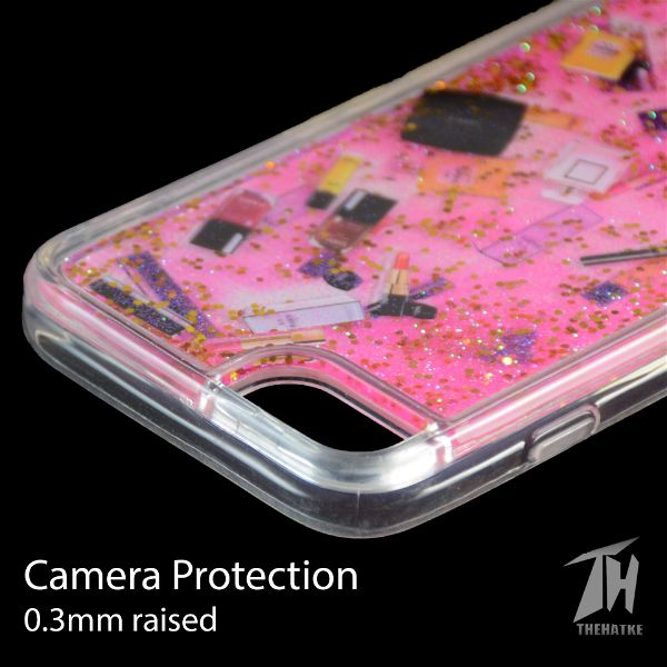 Pink Makeup Glitter Case For Apple iphone SE 2