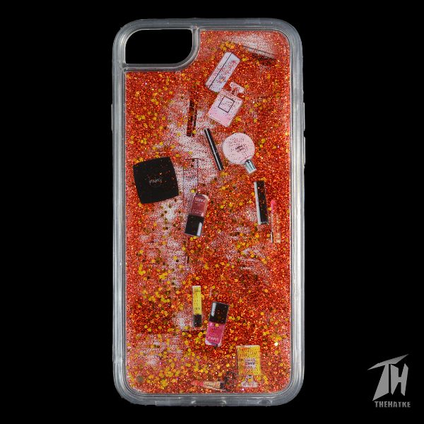 Red Makeup Glitter Case For Apple iphone 6/6s
