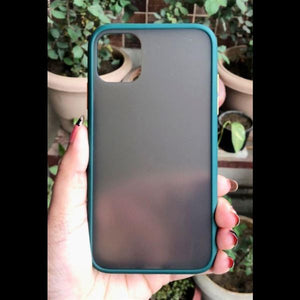 Dark Green Smoke Silicone Protection case for Apple iphone 11