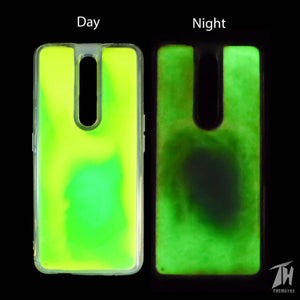 Green Glow in Dark Silicone Case for Oppo F11 pro