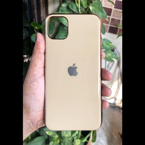Golden Border mirror Silicone case for Apple iphone 11 pro