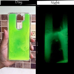 Green Glow in the dark case for Redmi note 8 pro