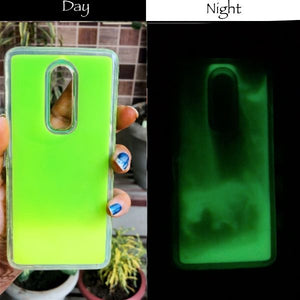 Green Glow in Dark Silicone Case for Oneplus 6