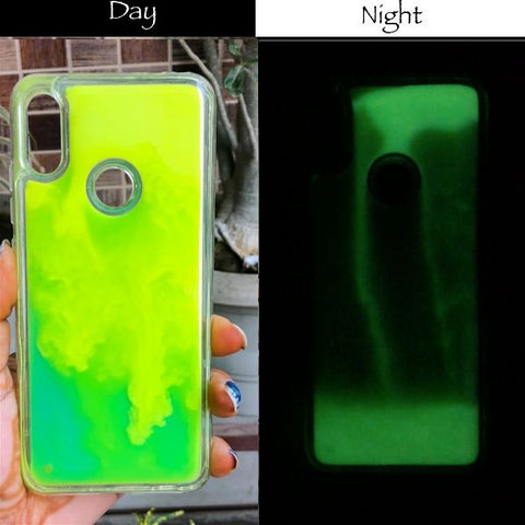 Green Glow in the dark case for Redmi note 6 pro