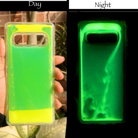 Green Glow in Dark Silicone Case for Samsung s10