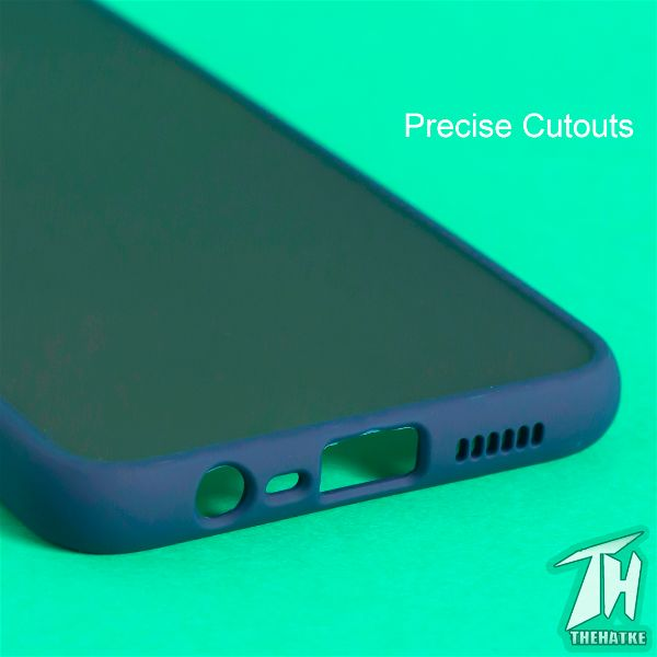 Blue Smoke Camera Protection Silicone case for Oppo A5s