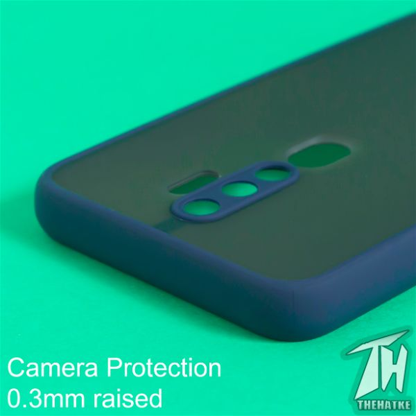 Blue Smoke Camera Protection Silicone case for Oppo A9 2020