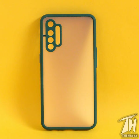 Dark Green Smoke Camera Protection case for Realme XT