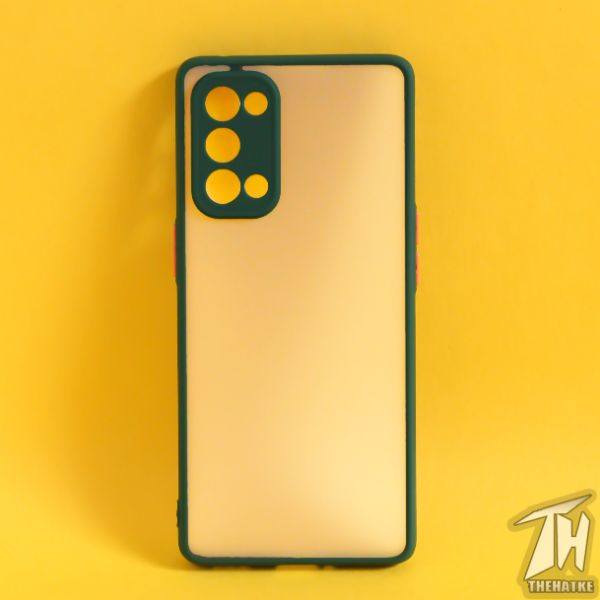 Dark Green Smoke Camera Protection Silicone case for Oppo Reno 5 Pro