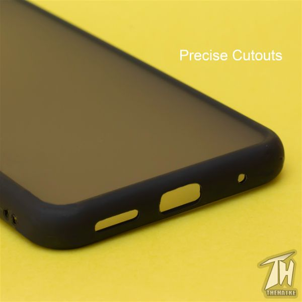 Black Smoke Silicone Protection case for Vivo S1 pro