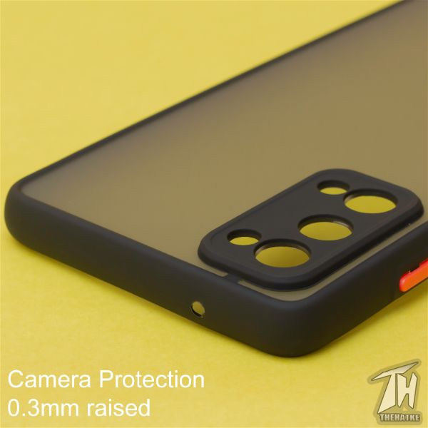 Black Smoke Camera Protection case for Samsung S20 FE