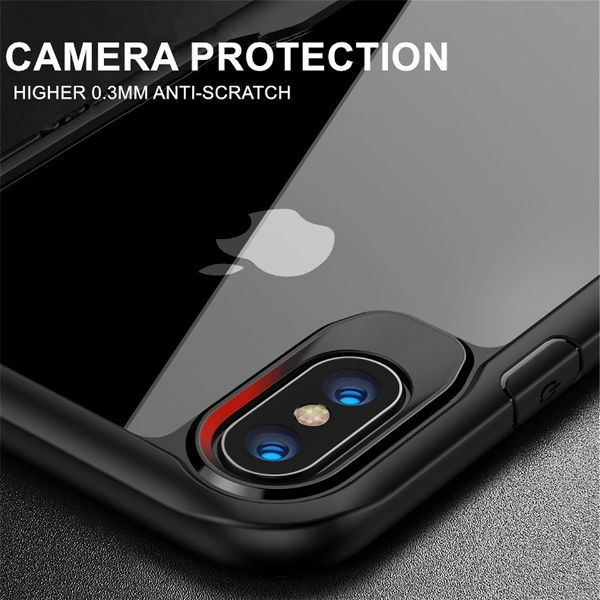 Shockproof silicone protective transparent Case for Apple iphone Xs max