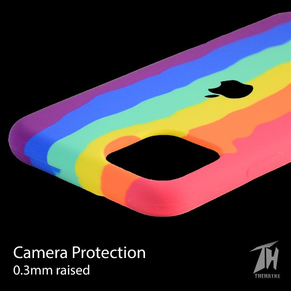 Rainbow Silicone Case for Apple iphone 12