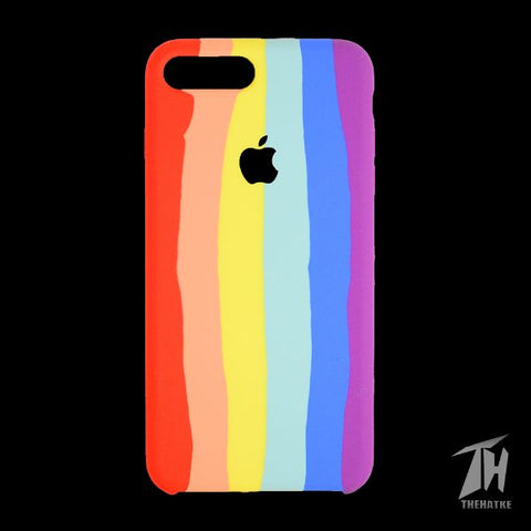 Rainbow Silicone Case for Apple iphone 8 plus