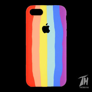 Rainbow Silicone Case for Apple iphone 8