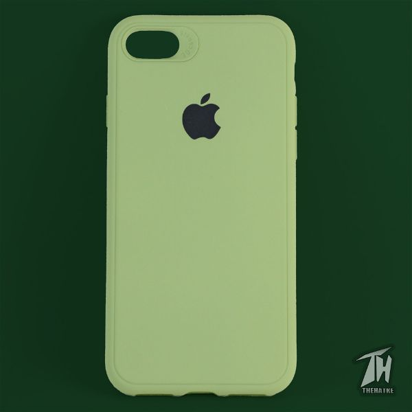 Light Green Silicone Case for Apple iphone 8