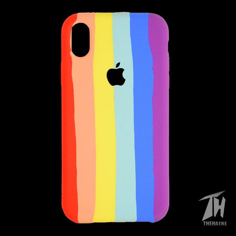 Rainbow Silicone Case for Apple iphone XR