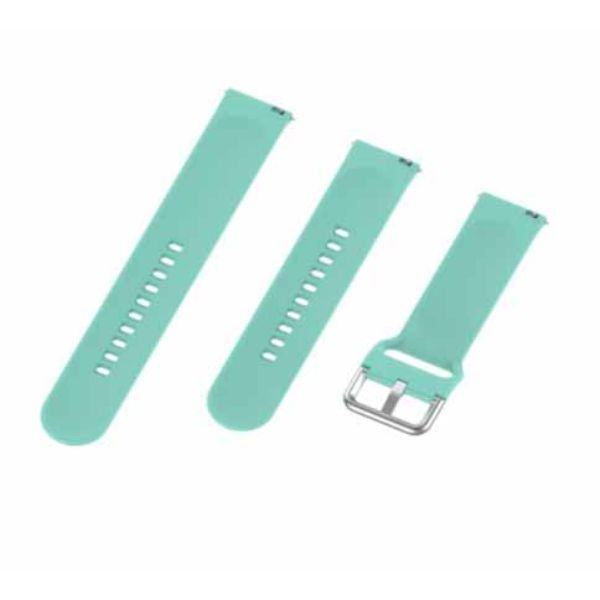 Light Blue Plain Silicone Strap With Stainless steel Buckle For Smart Watch (20mm)