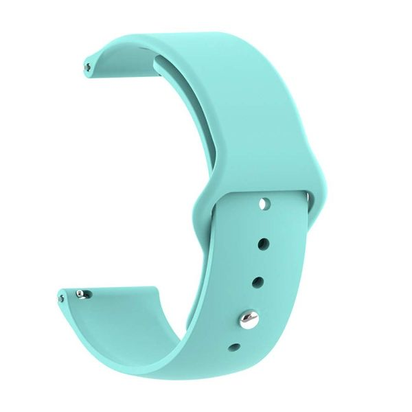 Light Blue Plain Silicone Strap For Smart Watch (20mm)