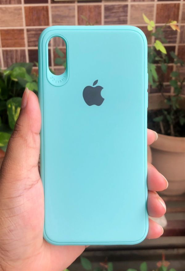 Light Blue Silicone Case for Apple iphone Xs Max