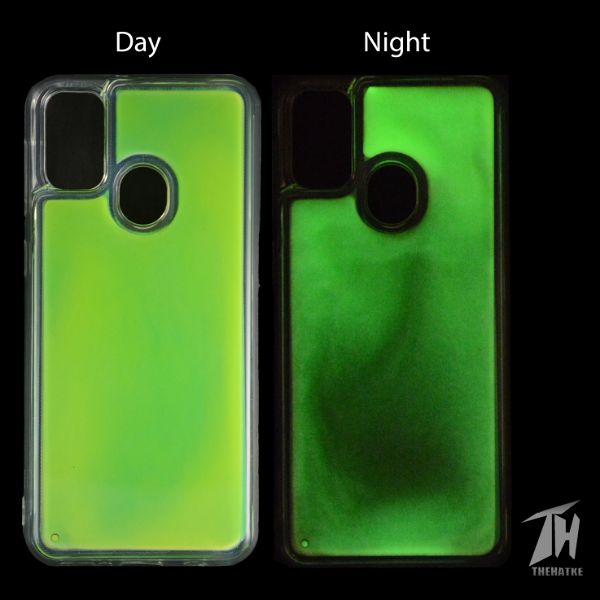 Green Glow in Dark Silicone Case for Samsung M30s