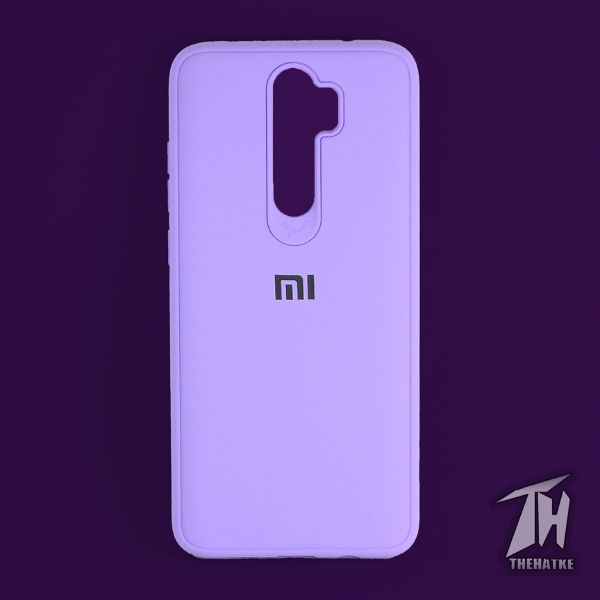 Purple Silicone Case for Xiaomi Redmi Note 8 pro