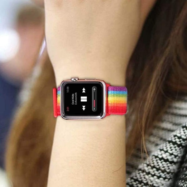 Rainbow Nylon Strap For Apple Iwatch (38mm/40mm)