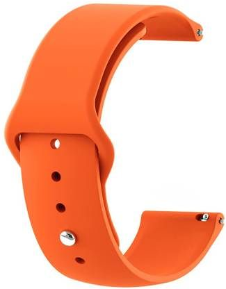 Orange Plain Silicone Strap For Smart Watch (20mm)