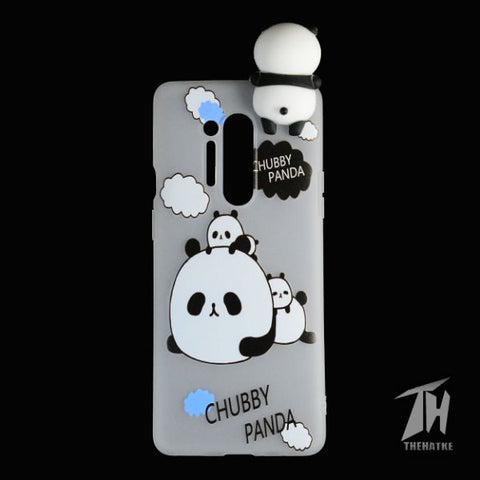 Chubby Panda 3D Silicone Case for Oneplus 8 pro