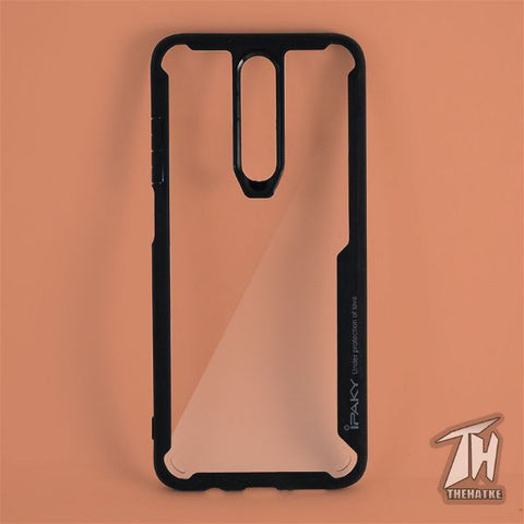 Shockproof silicone protective transparent Case for Poco X2