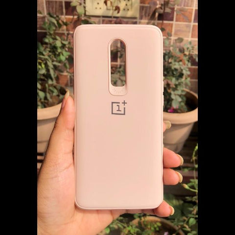 Peach Silicone Case for Oneplus 6