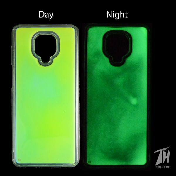 Green Glow in the dark case for Redmi note 9 pro