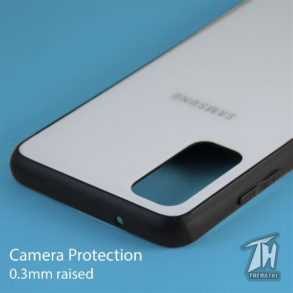 White mirror Silicone case for Samsung S20 Plus