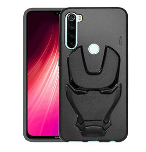 Ironman Engraved logo silicon Case for Redmi note 8