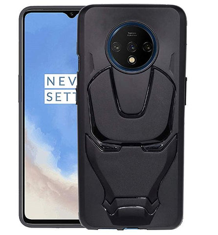 Ironman Engraved logo silicon Case for Oneplus 7t