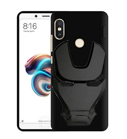 Ironman Engraved logo silicon Case for Redmi note 6 pro