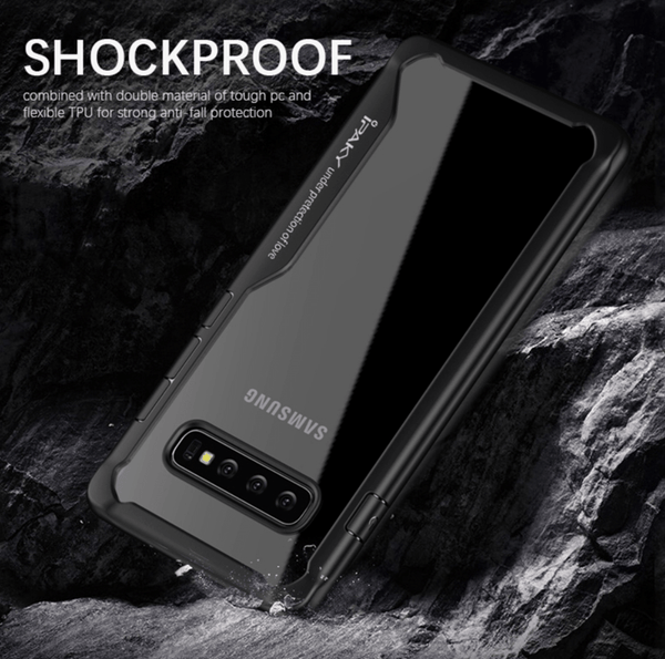 Shockproof silicone protective transparent Case for Samsung S10 plus