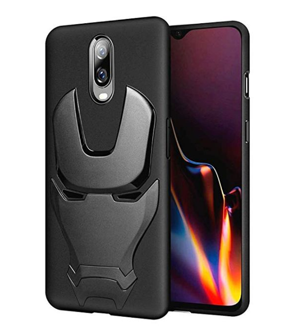 Ironman Engraved logo silicon Case for Oneplus 6t