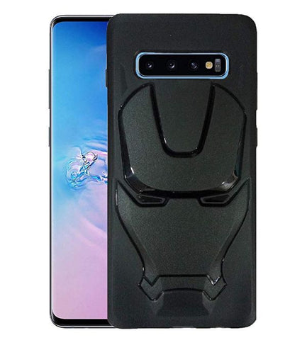 Ironman Engraved logo silicon Case for Samsung S10 plus