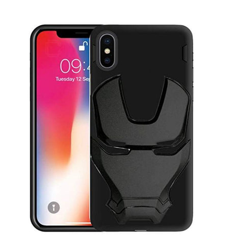 Ironman Engraved logo silicon Case for Apple Iphone Xs Max