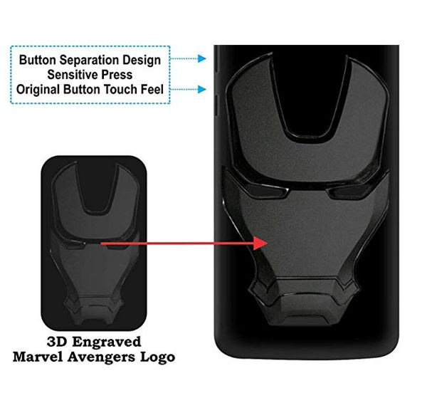 Ironman Engraved logo silicon Case for Samsung J8