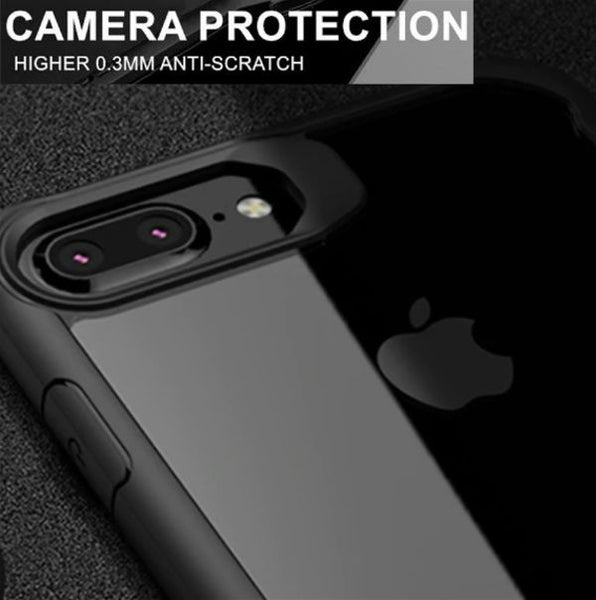 Shockproof Silicone Transparent Case for Apple iphone 7 plus