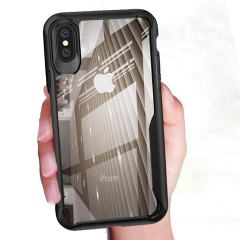 Shockproof protective transparent Case for Apple iphone Xs max